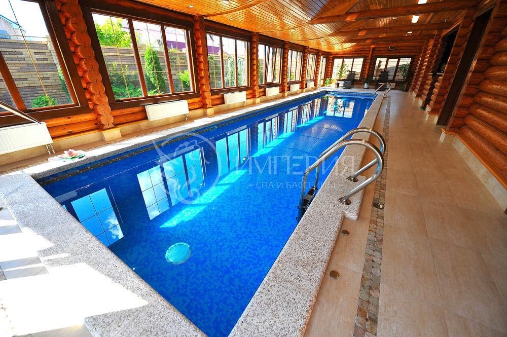 Бетонный бассейн 4 х 12 метров