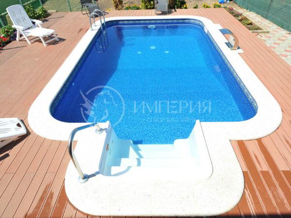 Панельный бассейн в Марроканском стиле