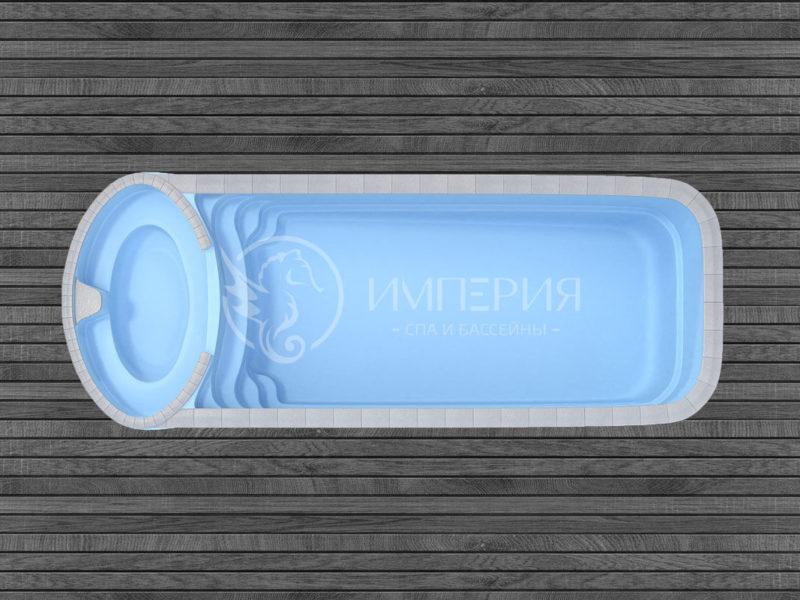 """Композитный бассейн """"Коньяк"""""""